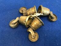 Antique / Victorian Table Brass Casters Set Of 4