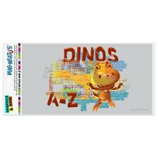 Dinosaurs from A to Z Word Art Dinosaur Train Automotive Car Vinyl Magnet