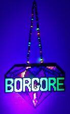 Borgore kandi perler necklace rave EDC PLUR hama art melty festival dj bead