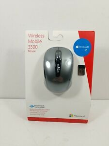 Microsoft - Wireless Mobile Mouse 3500 Bluetrack 2.4 GHz - Black/Gray NEW