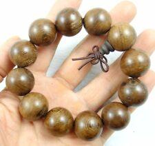 Unisex Chicken-Wing Wenge Wood Beads Tibet Buddhist Prayer Elastic Bracelet R1