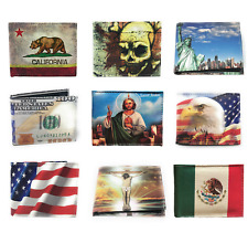 Graphic Print Design Mens Bifold Leather Wallet Cash Card ID Youth Novelty Gift