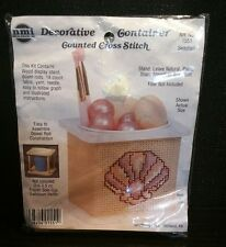 NeedleMagic, Inc Counted Cross Stitch Kit Decorative Container NMI 1551 Seashell