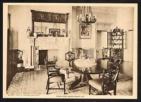 1910s Antique Vintage Dining Room MD Antique Furniture Photo Gravure Print