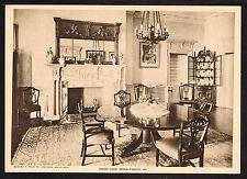 1910's Old Vintage Dining Room MD Antique Furniture Photo Photogravure Print