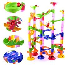 105x Kid Children's DIY Marble Run Race Construction Maze Building Blocks Toy AU