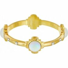 New Brighton Versailles Orleans Gold tone Crystal Moonstone Bangle Bracelet $78