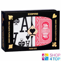 COPAG DOUBLE INDEX MAGNUM 2 DECK 100% PLASTIC POKER PLAYING CARDS 2 DECKS CASINO