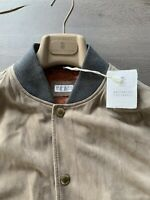 BRUNELLO CUCINELLI SUEDE VELOUR LEATHER LEDER VEST WESTE SWEAT JACKET JACKE M