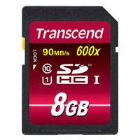 Transcend SDHC 8 GB Speicherkarte 8GB UHS-I - TS8GSDHC10U1 Class 10 UHS I 600x