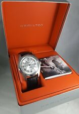 HAMILTON KHAKI AUTOMATIC H705450 SWISS MAN'S DAY/DATE WATCH, 25 JEWELS, NWOT