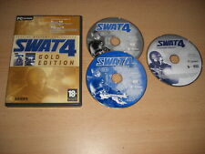 SWAT 4 GOLD inc STETCHKOV SYNDICATE Add-On Expansion Pack Pc Cd Rom S.W.A.T.