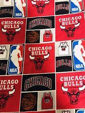 "Nba Chicago Bulls Cotton Fabric 1/4 Yard 9�x 44"""