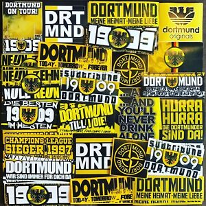 100 x Dortmund Sticker Inspired By Scarf Poster T-Shirt fans PEGATINAS