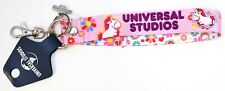 New Universal Studios Despicable Me Agnes Fluffy Unicorn Lanyard Keychain