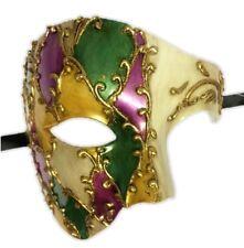 Mardi Gras Venetian Argyle Style Phantom Half Mask Adult Costume Accessory