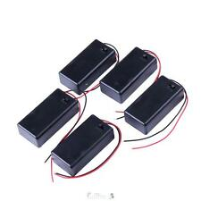 5PCS 9V Battery Holder Box Case with Wire Lead ON/OFF Switch Cover Black