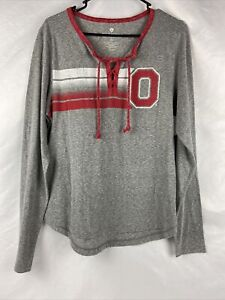 Ohio State Buckeyes Colosseum Womens Wexner Lace Up L/S T-Shirt (M)