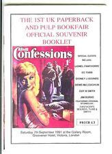 1st UK PAPERBACK & PULP BOOKFAIR SOUVENIR BOOK, rare 1991 British digest mag