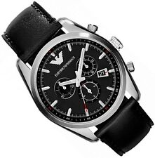 EMPORIO ARMANI MEN'S WATCH AR6039 CHRONOGRAPH BRAND NEW WITH CERTIFICATE