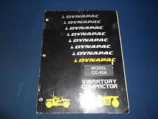 DYNAPAC CC-42A VIBRATORY COMPACTOR OPERATION & MAINTENANCE BOOK MANUAL