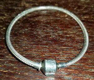 A0024. Sterling Silver Charm Bracelet