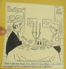 Original 1983 Marriage Cartoon Ink Drawing by JEFF KEATE Listed illustrator N.Y.