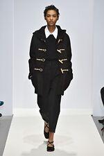 Margaret Howell Black Runway Sheepskin Suede Shearling Parka Coat Jacket  £2375