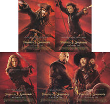 "Pirates of The Caribbean ""At World's End"" Complete Set-of-5 Postcards (Disney)"