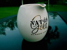 """5.75"""" VAT 69 GOLD CLASSIC LIGHT  CERAMIC WATER / WHISKEY PITCHER CLEARANCE PRICE"""