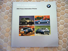BMW OFFICIAL 3 5 6 7 SERIES M3 X3 X5 Z4  PRESS KIT BROCHURE 2004 USA EDITION