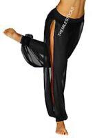 TMS Black Slit Harem Yoga Pant Belly Dance Club 25Color
