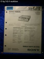 Sony Service Manual XR M510 Car Stereo (#6540)