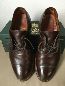 Alden Dutton 941C Dark Brown Alpine Grain Calfskin - Plain Toe Blucher - Size 8