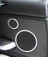 D BMW E46 Chrom Ringe für  Lautsprecher hinten/ Lautsprecherringe - Edelstahl