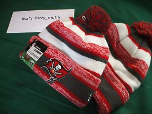 Tampa Bay Buccaneers New Era knit pom hat beanie Tags OnField AUTHENTIC! 2014 TB
