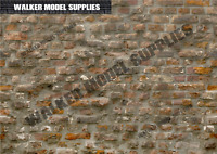 1:6 scale (3xA4) Brick wall - Peel and Apply sticker/ diorama model 9