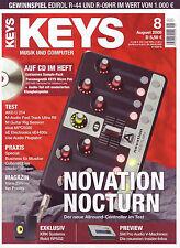 Keys 08 2008 mit CD Samplae-Pack Novation Nocturn und Tests Paxis Specials