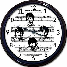 Beatles Yellow Submarine Wall Clock Sheet Music McCartney Lennon Ringo Harrison