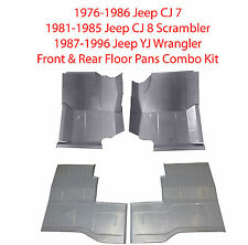 1976-1996 Jeep CJ7 CJ8 Scrambler & YJ Wrangler Front & Rear Floor Pans  4PC. Kit