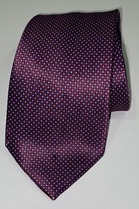 Stefano Ricci Mens Tie 100% Silk Red Blue Made Italy