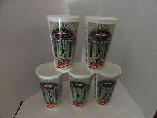 5 VINTAGE - 1992  BALTIMORE ORIOLES INAUGURAL SEASON SCHEDULE PLASTIC CUPS - EC