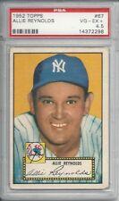 1952 Topps Allie Reynolds PSA 4.5 Vg-Eg + better than a 4 not quite a 5 Yankees