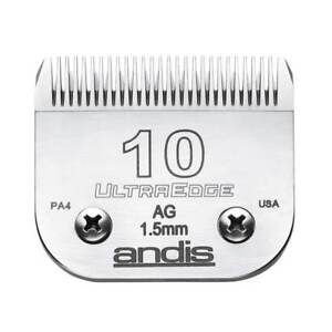 Andis UltraEdge Detachable Blade, Size 10 - Leaves 1.5mm, Fits Andis, Oster, Wah