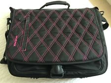 TARGUS BLACK AND PINK PADDED LAPTOP CASE FOR SCHOOL/COLLEGE - EXCEL CONDITION