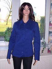 Zero Damen Bluse Stretch Stretchbluse Langarm blau dunkelblau Grösse 38 neu
