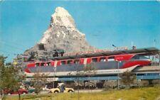 Amusement Anaheim California Disneyland 1959 Postcard Monorail Matterhorn 12177