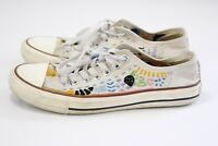 Converse Chuck Taylor All Star Altered Decorated White Sneakers Size 9 Women's