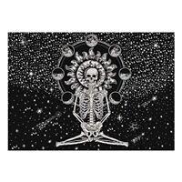 Tapestry Mat Blanket Mandala Wall Hanging Mat Skull Painting Halloween Tapestry