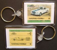 1966 SHELBY GT-350 Coupe Car Stamp Keyring (Auto 100 Automobile)